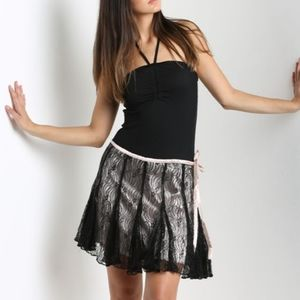 Angie lace overlay mini skirt